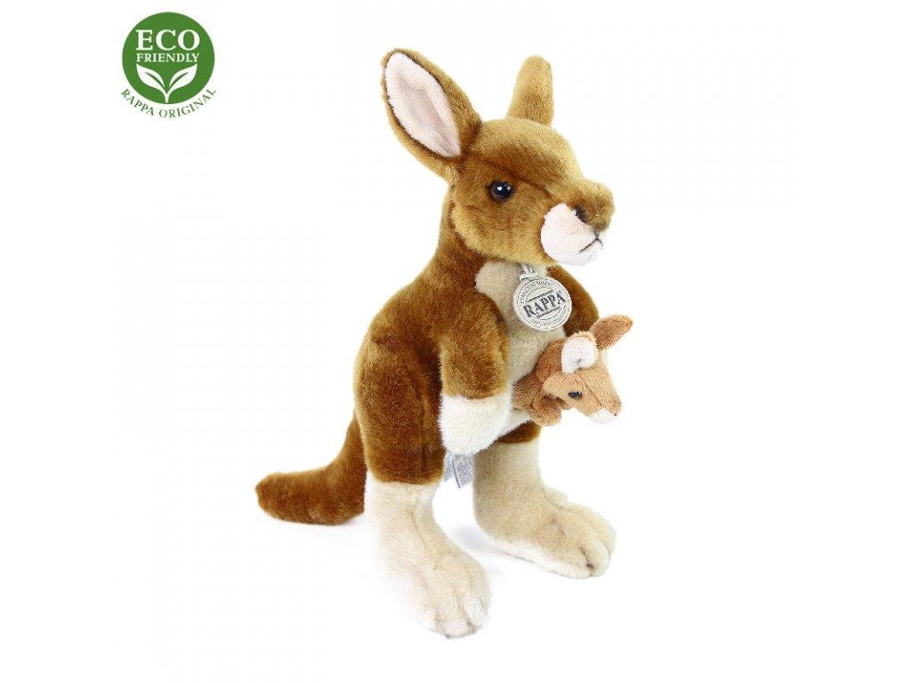 Plyšový klokan s mládětem 27 cm ECO-FRIENDLY