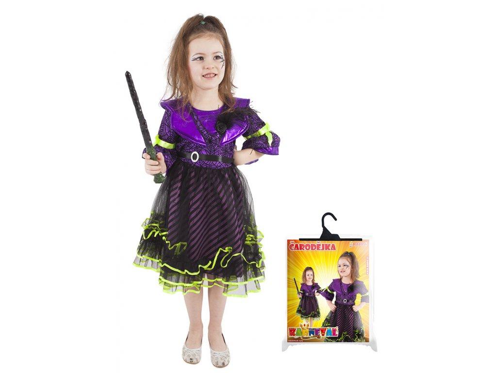Dětský kostým čarodejnice/Halloween fialový (L)
