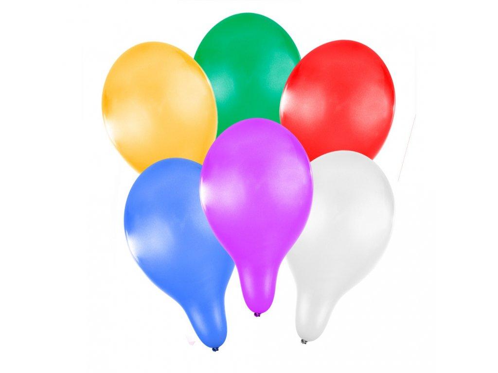 Nafukovací balónek metalický 27 cm 6 ks