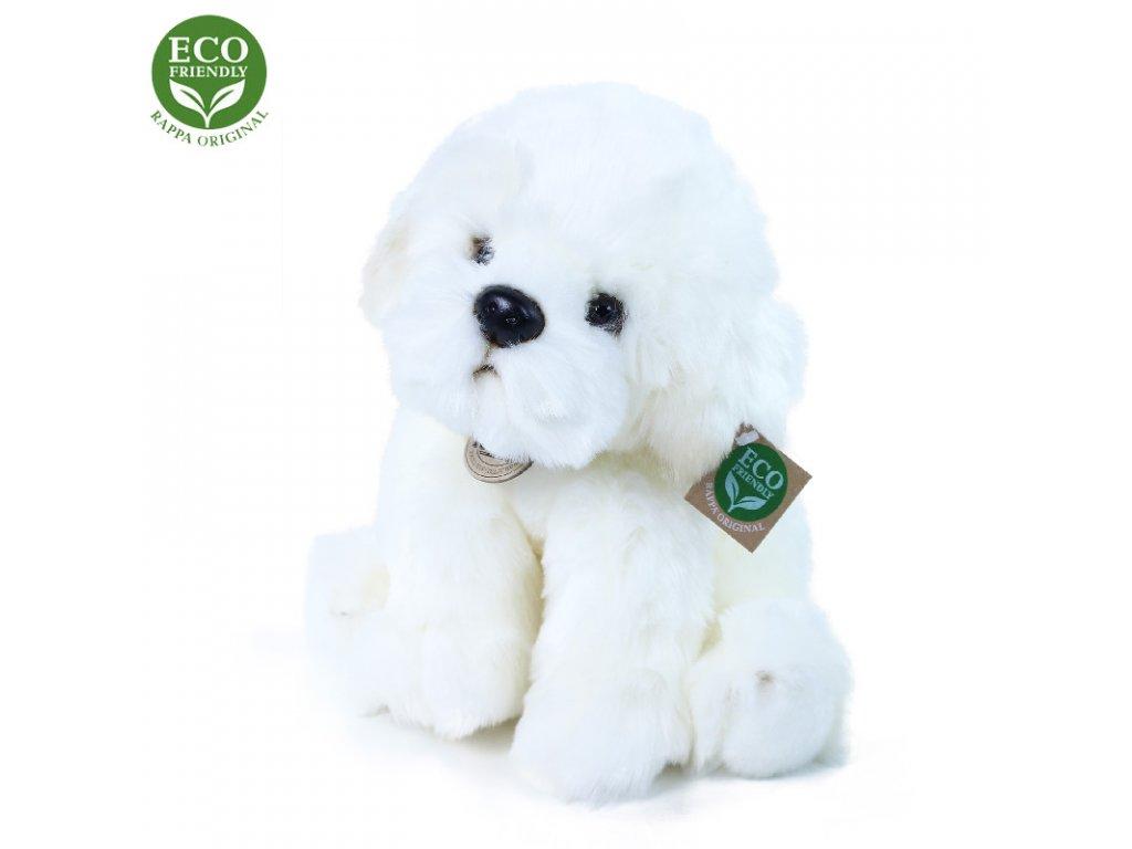 Plyšový pes bišon sedící 26 cm ECO-FRIENDLY