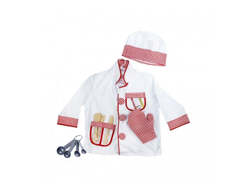 Dětský kostým kuchař s doplňky (S)