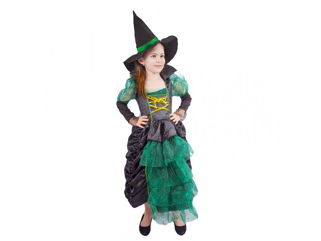 Dětský kostým čarodějnice/Halloween (M)