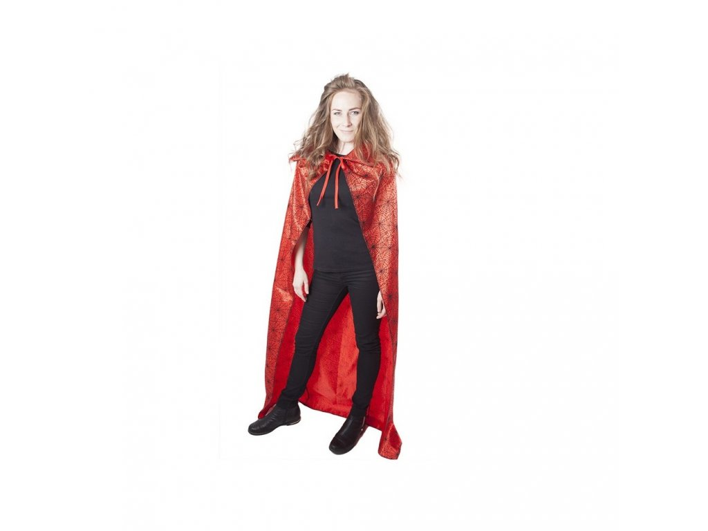 Plášť Čarodějnický červený pro dospělé čarodějnice/Halloween