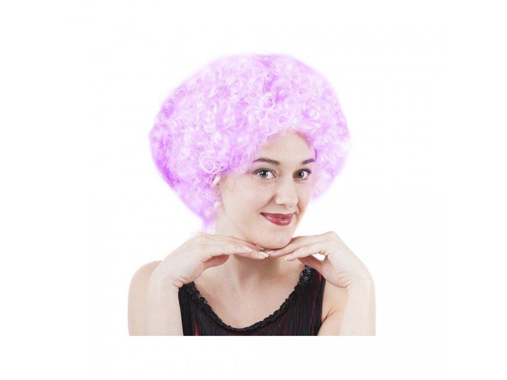 Paruka růžová kudrnatá