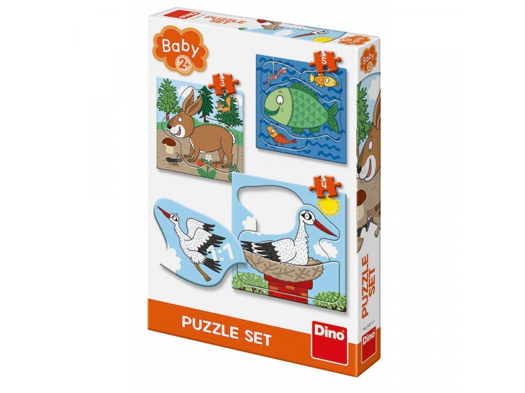 Puzzle baby 3-5 - zvířátka kde žijí