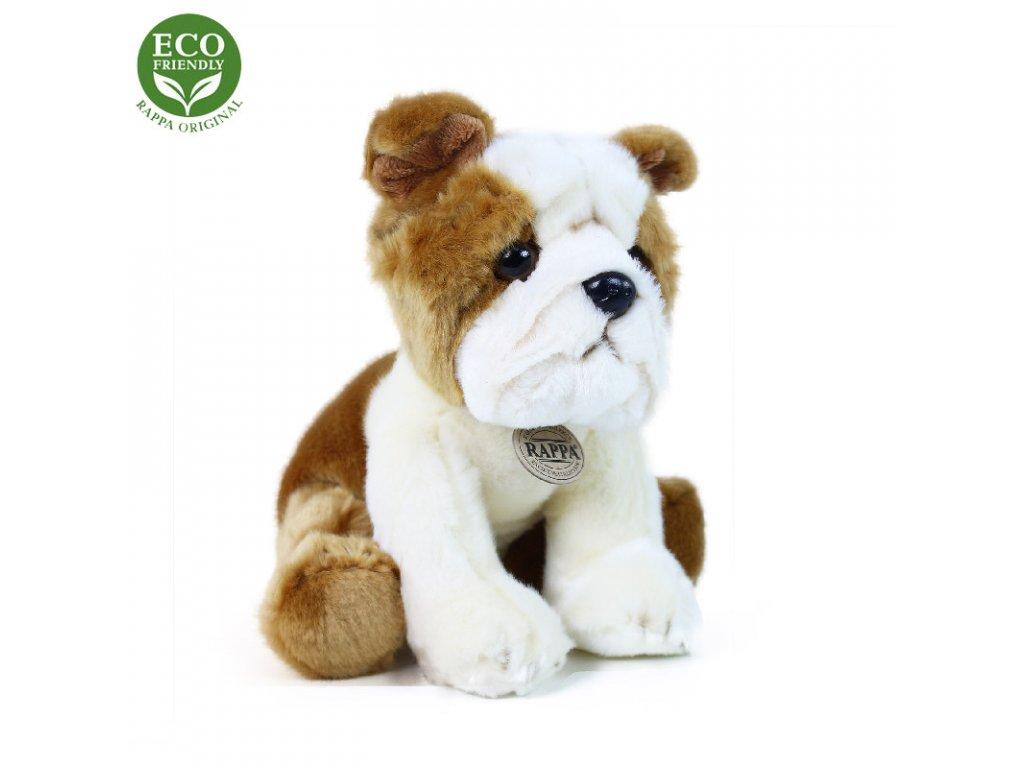 Plyšový pes buldok 26 cm ECO-FRIENDLY