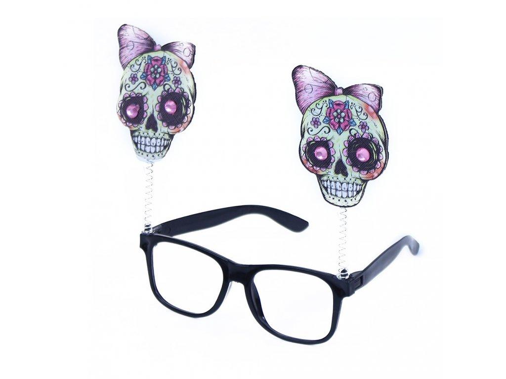 Brýle lebky čarodějnice/Halloween
