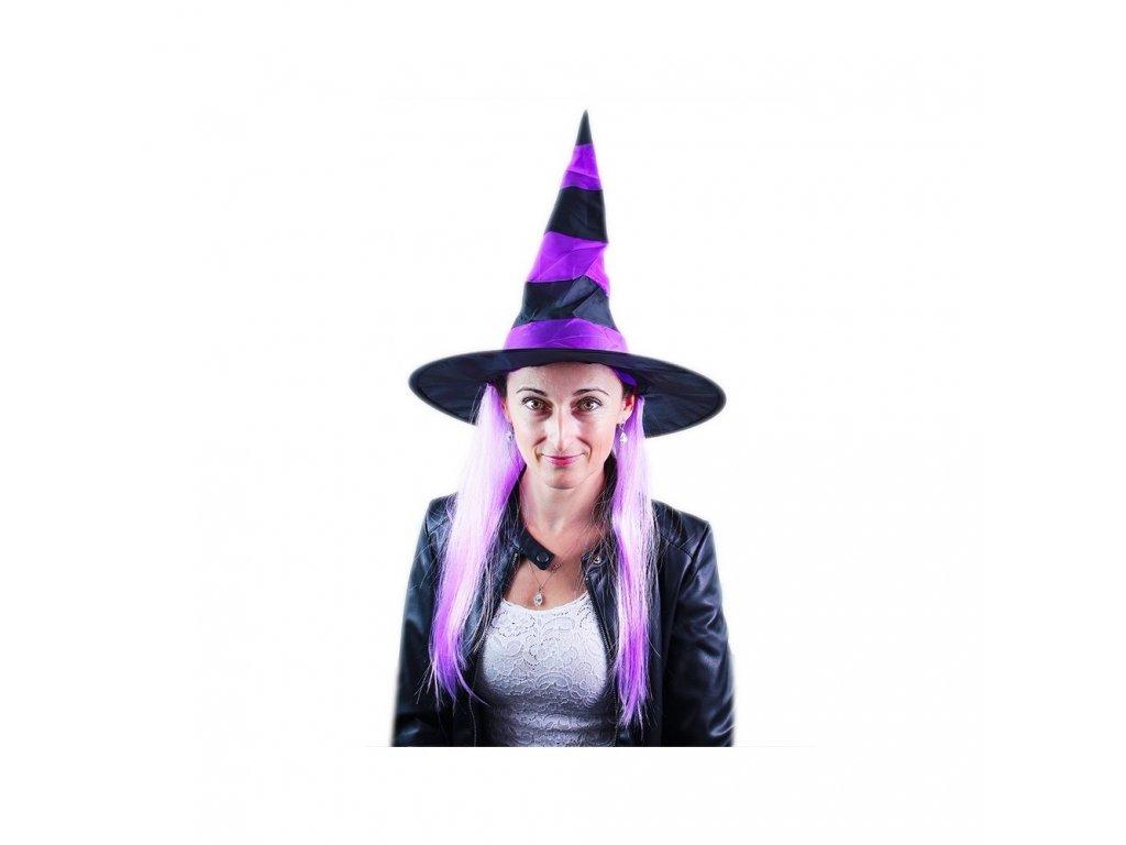 Klobouk s vlasy čarodějnice/Halloween