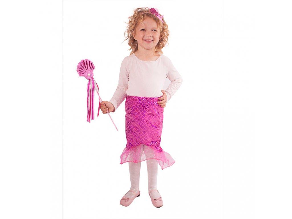Dětská sukně mořská panna růžová