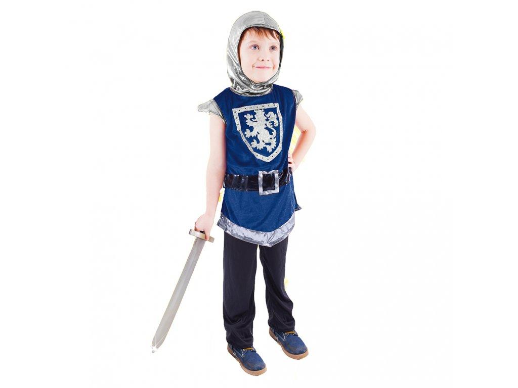 Dětský kostým rytíř s erbem modrý (L)