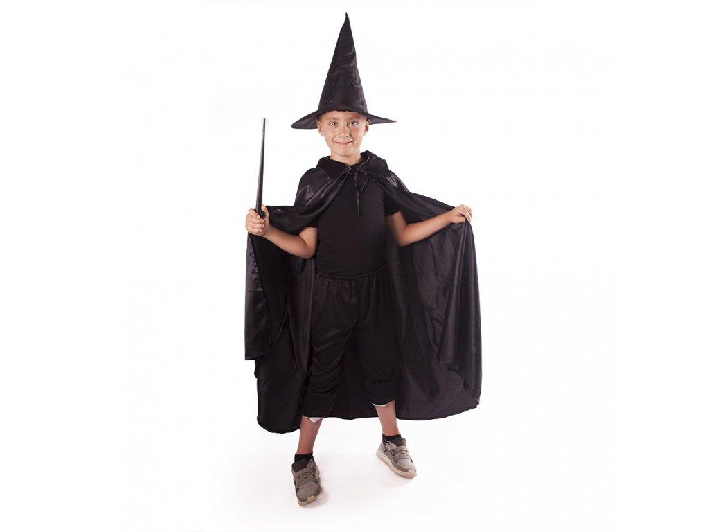 Dětský plášť čaroděj s kloboukem čarodějnice/Halloween