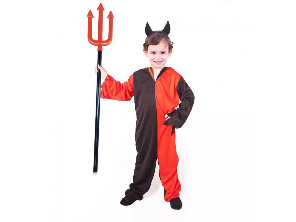 Dětský kostým čert s rohy (M)