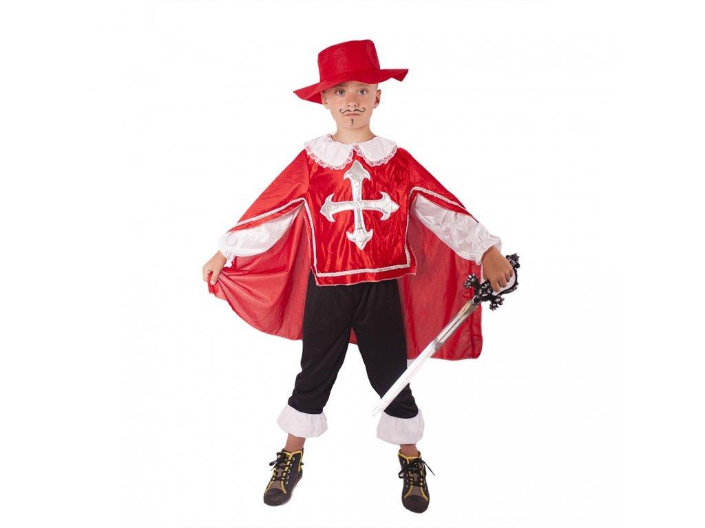 Dětský kostým mušketýr červený (S)