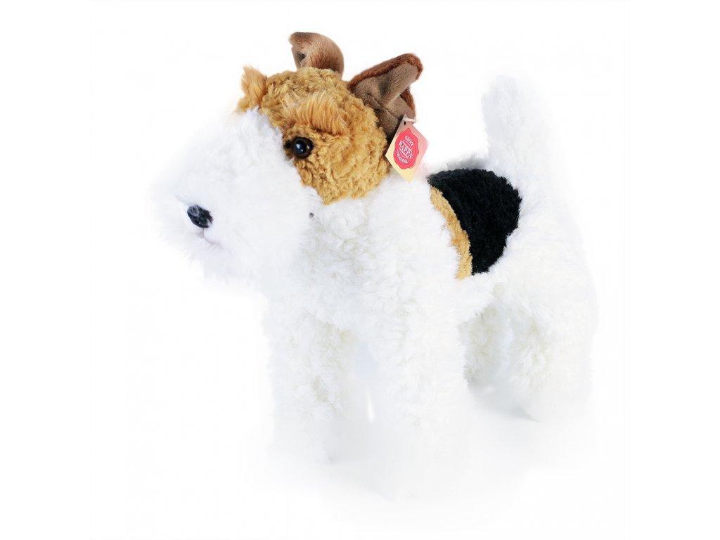 plyšový pes foxteriér Dášenka stojící 30 cm