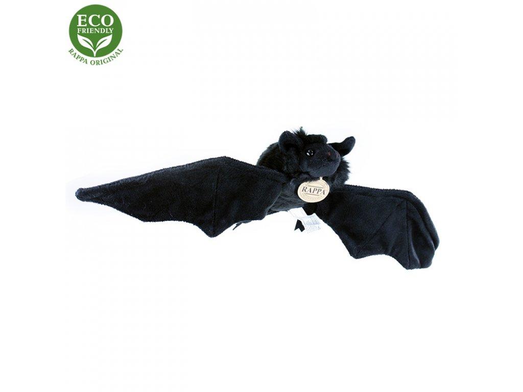 Plyšový netopýr černý 16 cm ECO-FRIENDLY