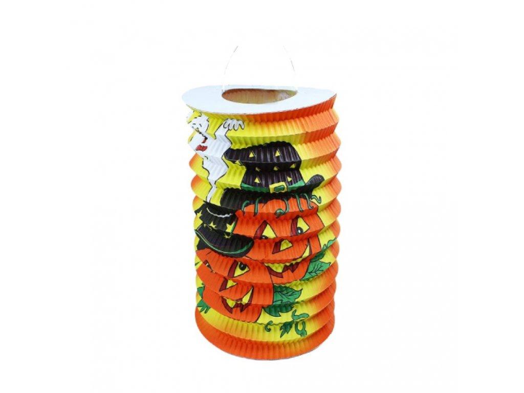 Lampion Halloween veselé dýně 15 cm