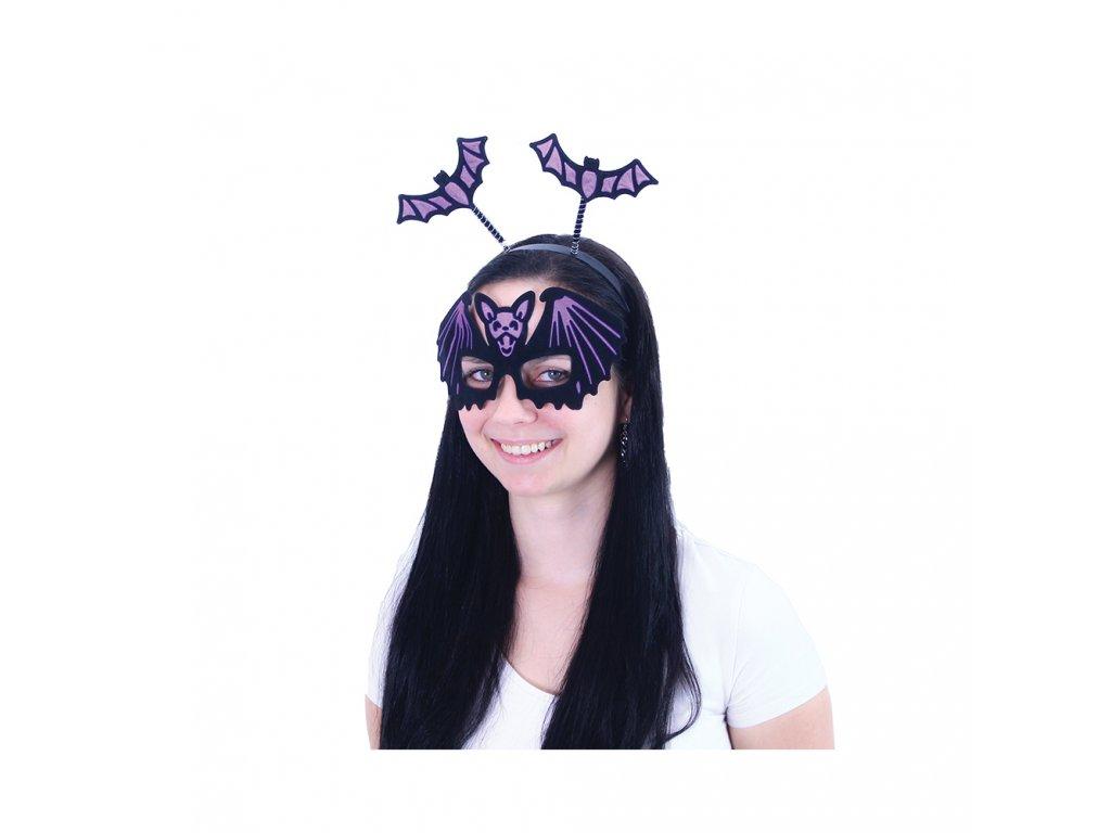 Čelenka netopýr s maskou pro dospělé