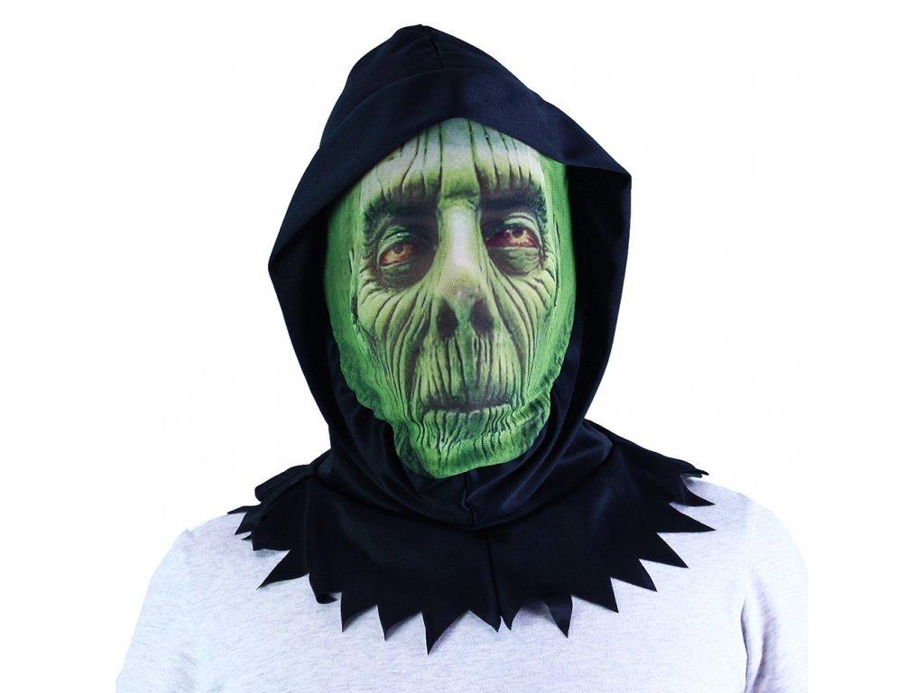 Maska zelená textilní