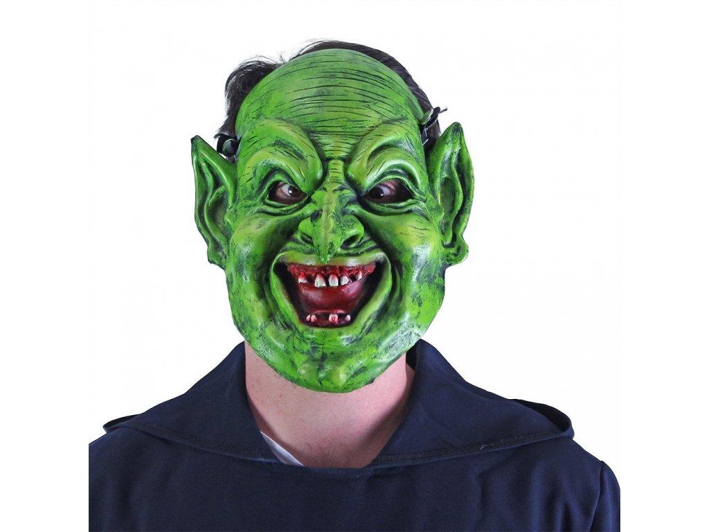 Maska čaroděj zelený