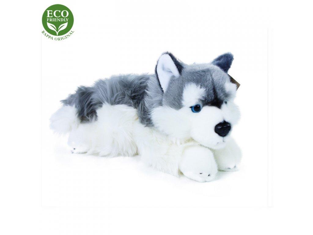 Plyšový pes husky ležící 30 cm ECO-FRIENDLY