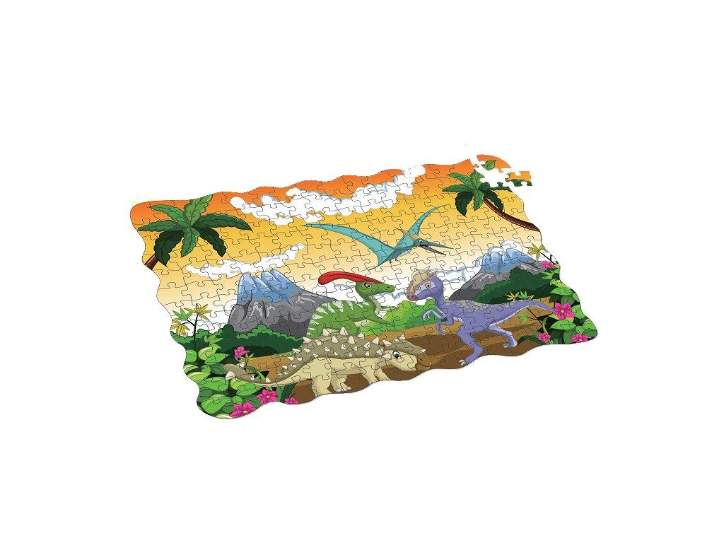 Puzzle dinosauři 208 ks 90x64 cm