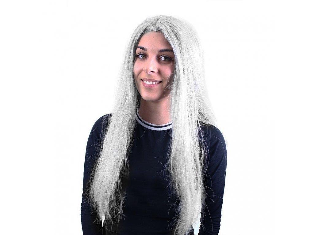 Paruka stříbrná čarodějnice/Halloween pro dospělé