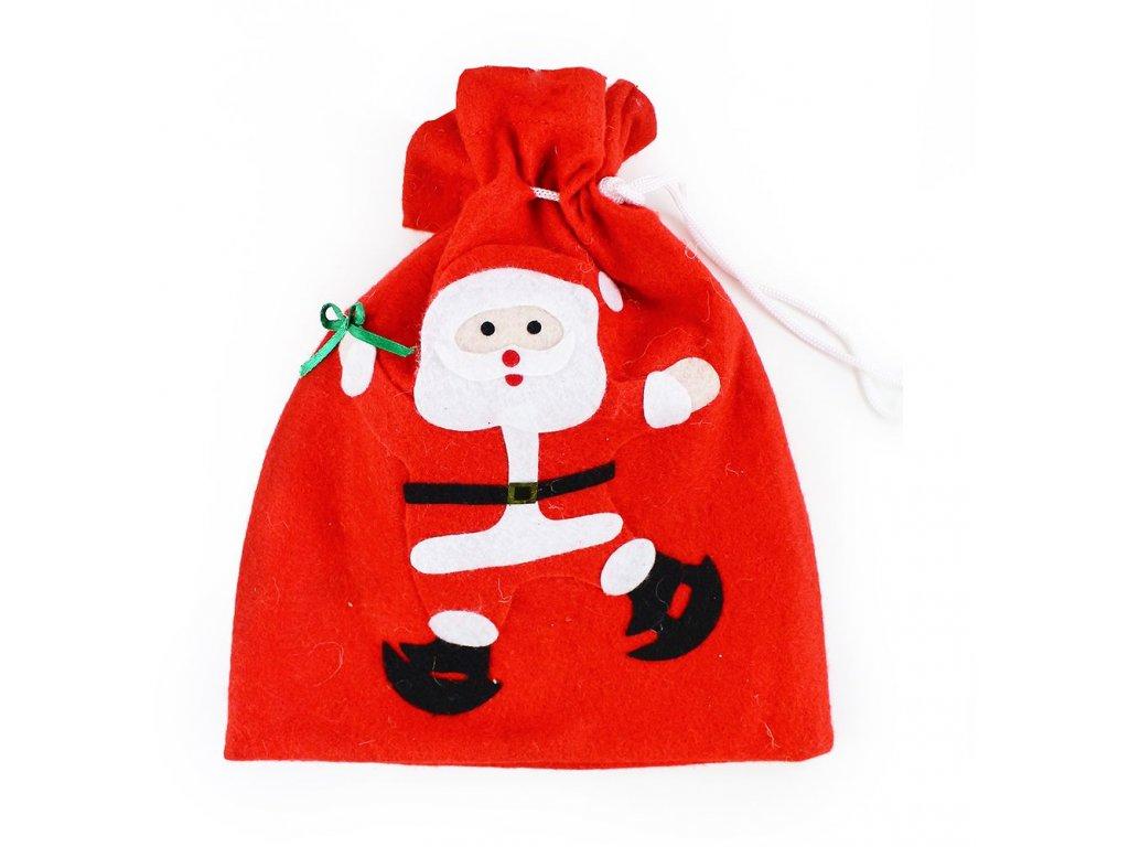 Vánoční pytlík 2 ks v balení 23 x 28 cm