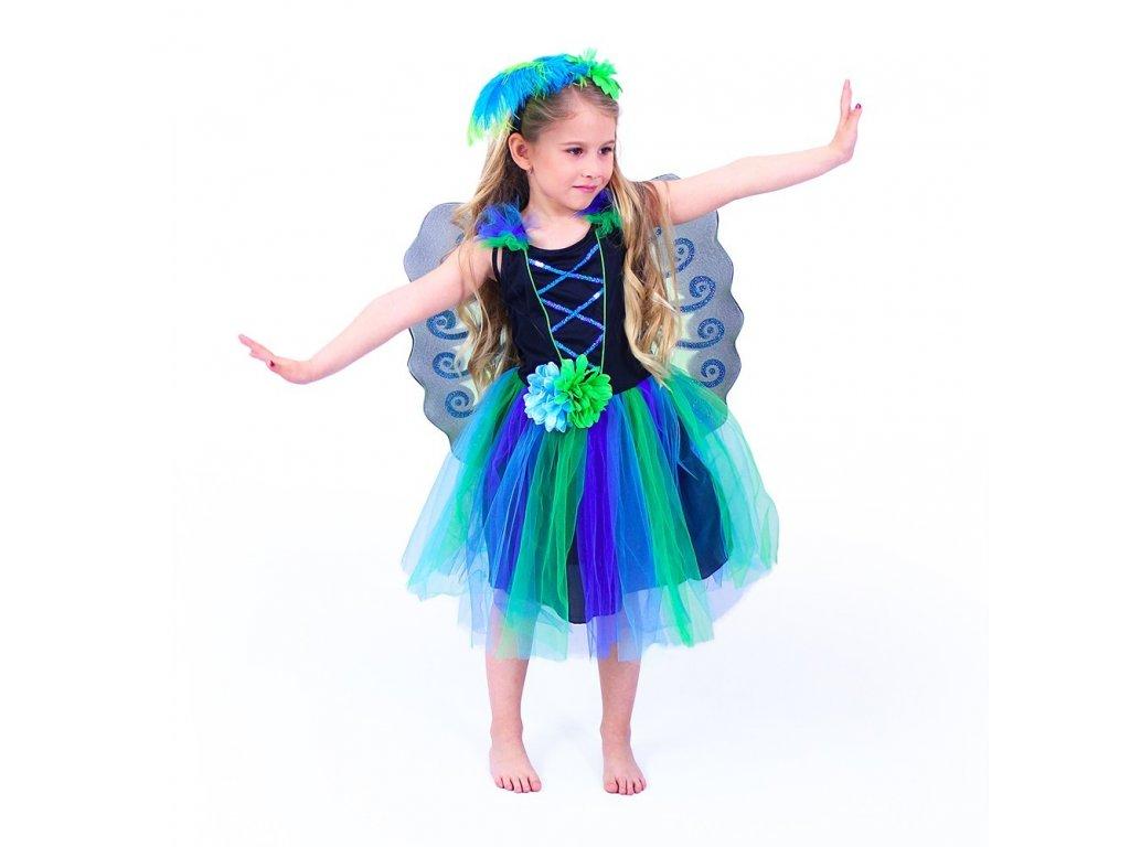 Dětský kostým paví víla (S)