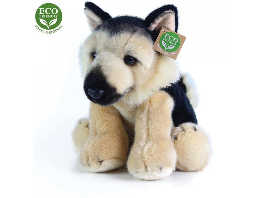 Plyšový pes německý ovčák sedící 30 cm ECO-FRIENDLY
