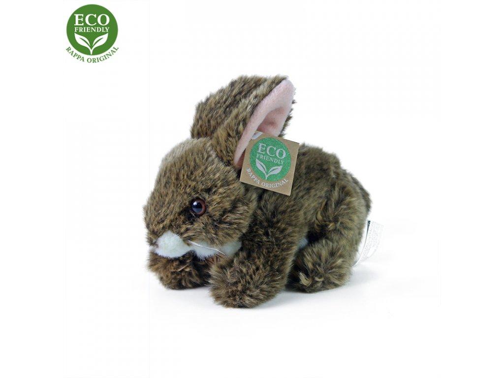 Plyšový králík hnědý ležící 17 cm ECO-FRIENDLY
