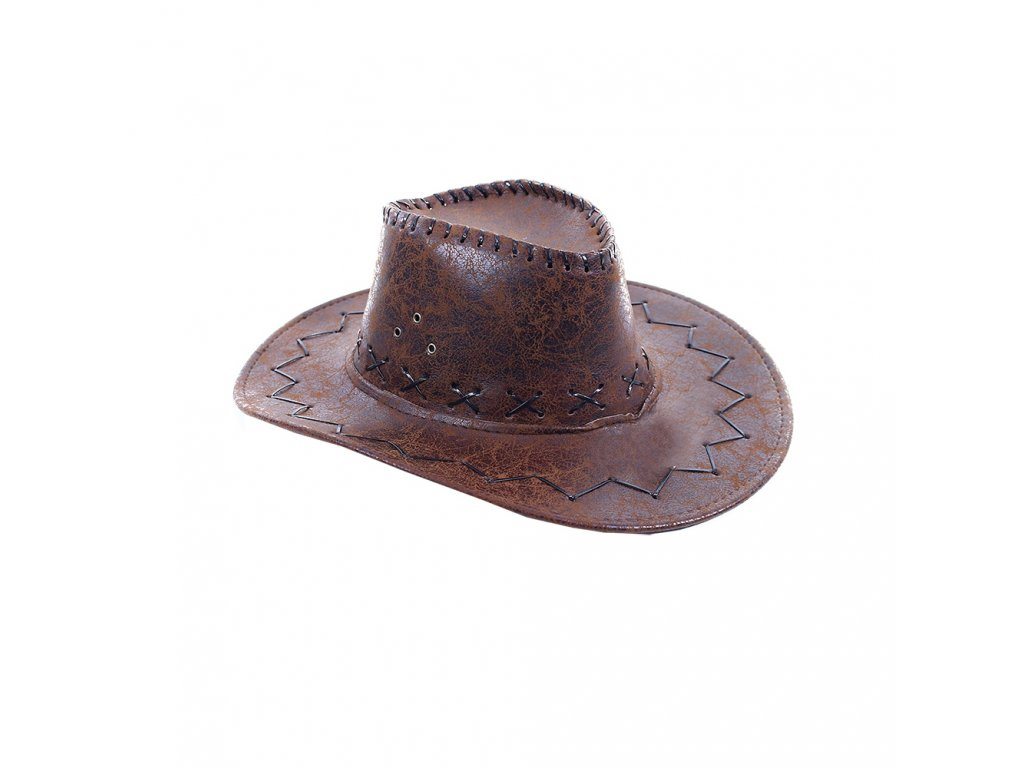 kovbojský klobouk hnědý dětský