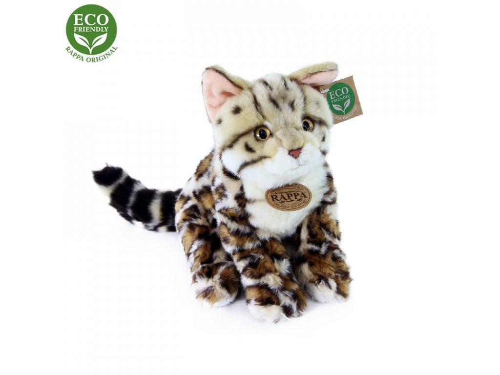 Plyšová kočka bengálská sedící 23 cm ECO-FRIENDLY