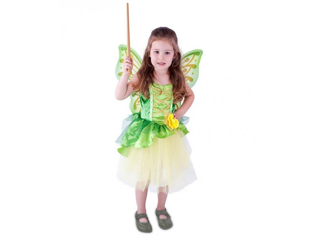 Dětský kostým víla Zelenka s křídly (S)