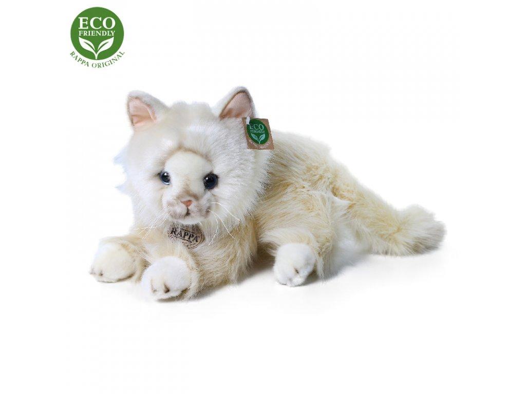 Plyšová perská kočka béžová ležící 30 cm ECO-FRIENDLY