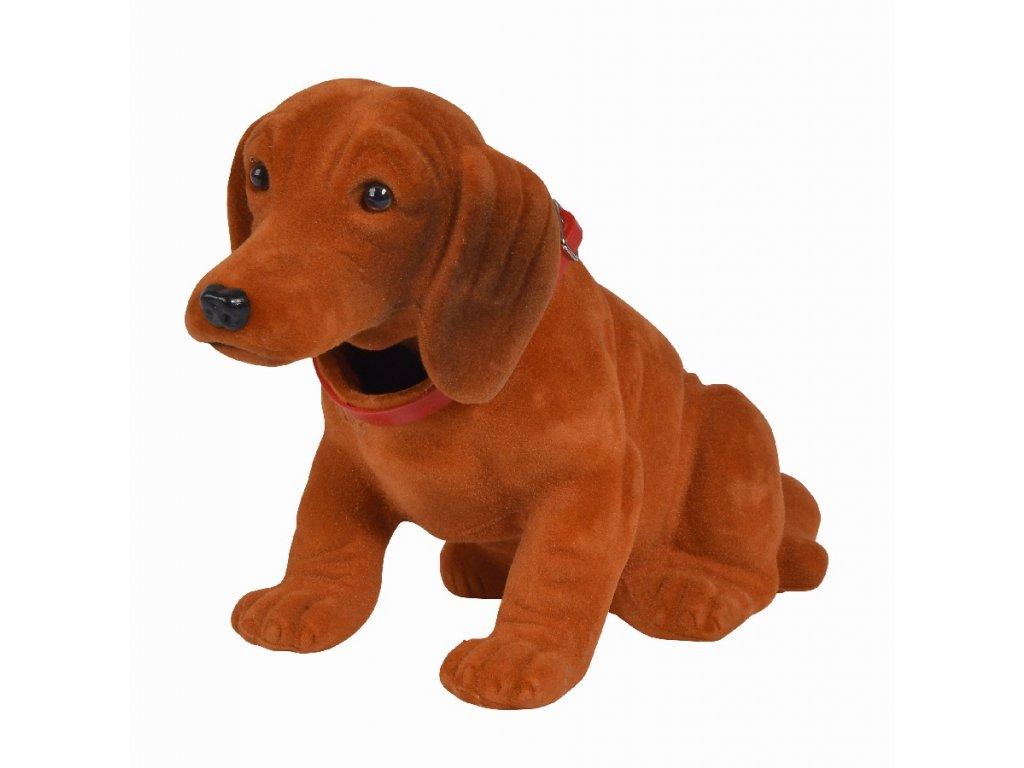 Pes s kývací hlavou 27 cm