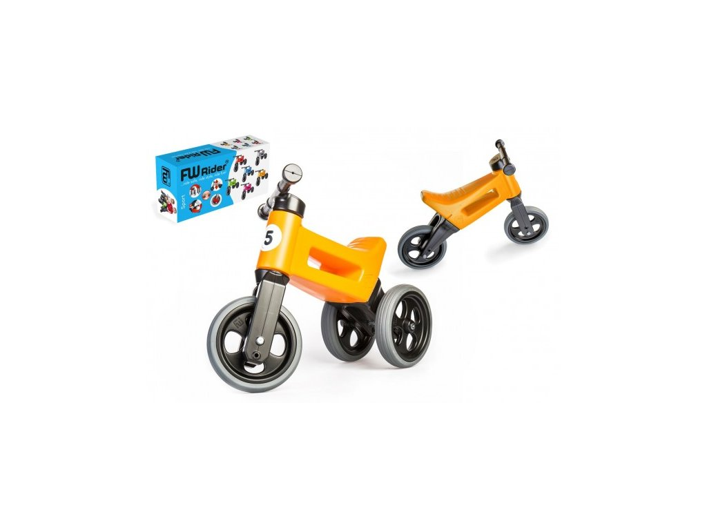 82790 odrazedlo funny wheels rider sport oranzove 2v1 vyska sedla 28 30cm nosnost 25kg 18m v krabici