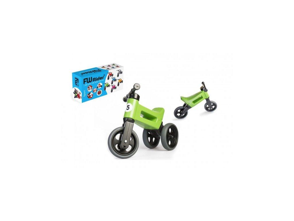27087 odrazedlo funny wheels rider sport zelene 2v1 vyska sedla 28 30cm nosnost 25kg 18m v krabici