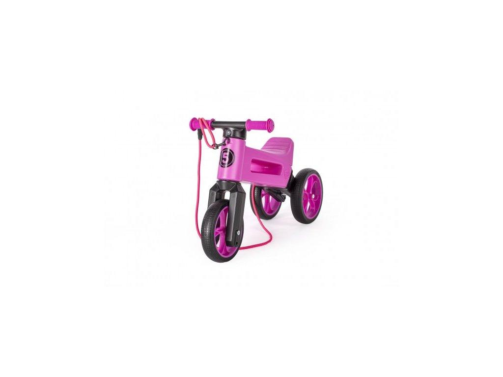80057 odrazedlo funny wheels rider supersport fialove 2v1 popruh vys sedla 28 30cm nos 25kg 18m v sacku