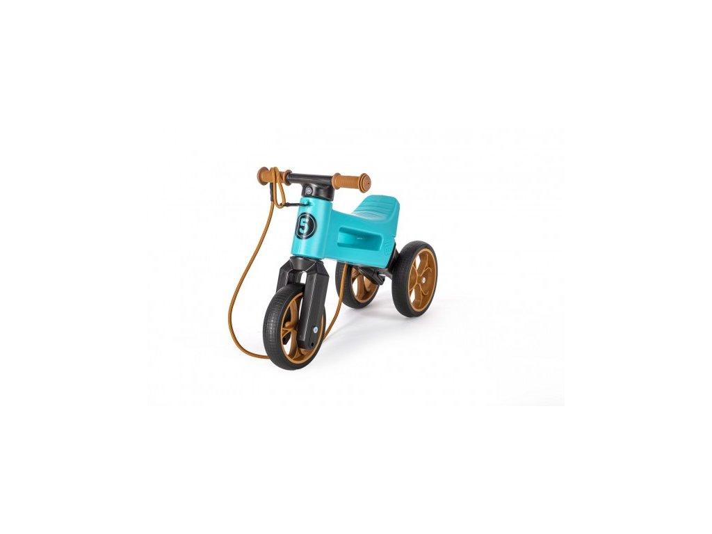 80051 odrazedlo funny wheels rider supersport tyrkys 2v1 popruh vys sedla 28 30cm nos 25kg 18m v sacku