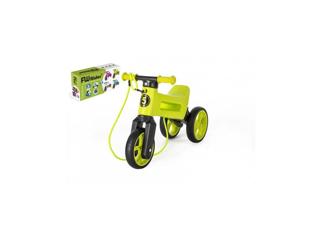 84305 odrazedlo funny wheels rider supersport zelene 2v1 popruh vys sedla 28 30cm nos 25kg 18m v krab