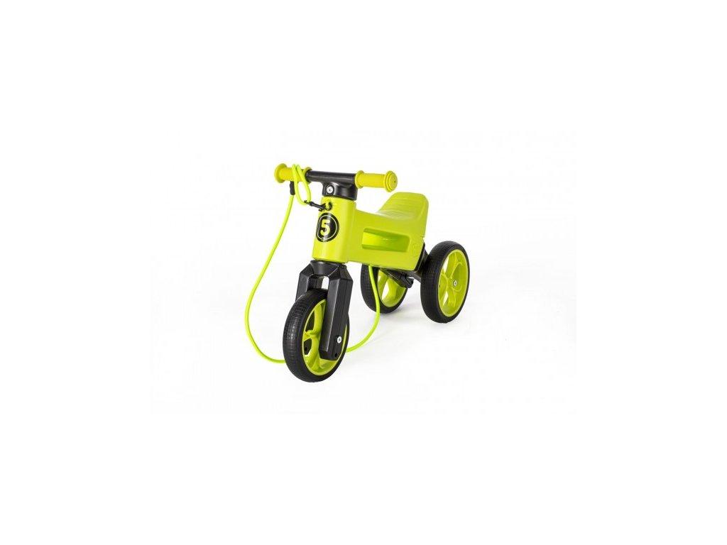 80060 odrazedlo funny wheels rider supersport zelene 2v1 popruh vys sedla 28 30cm nos 25kg 18m v sacku