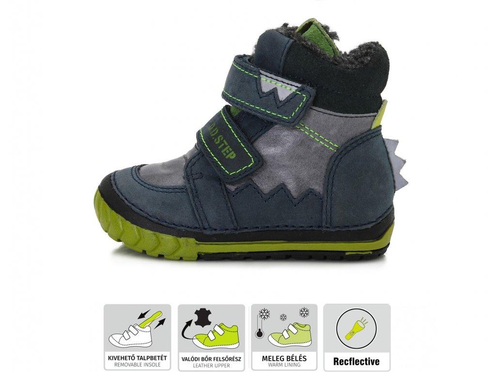 D.D.Step D.D. step chlapecká zimní obuv 029-307 (Velikost 19)