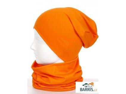 Dětská čepice - velikost XS - oranžová