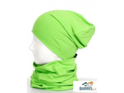 Dětská čepice - velikost XS - zelená