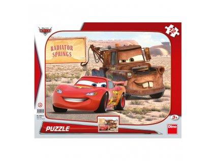 CARS: BLESK & BURÁK 12 DESKOVÉ TVARY PUZZLE