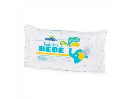 Vlhčené ubrousky ECO Mimidu 60 ks, 100% Celulóza