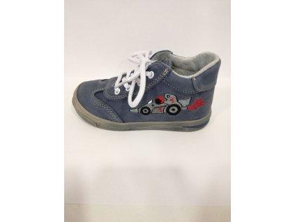 Jonap Celoroční kožená obuv 011 M modrá formule (Velikost 20)