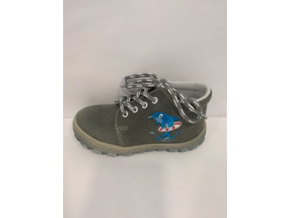Jonap Celoroční kožená obuv 022 M delfín šedý (Velikost 20)