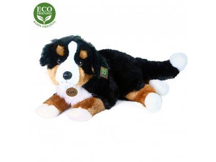 Velký plyšový bernský salašnický pes ležící 61 cm ECO-FRIENDLY