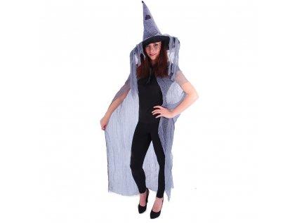 Čarodějnický plášť s kloboukem pro dospělé/Halloween